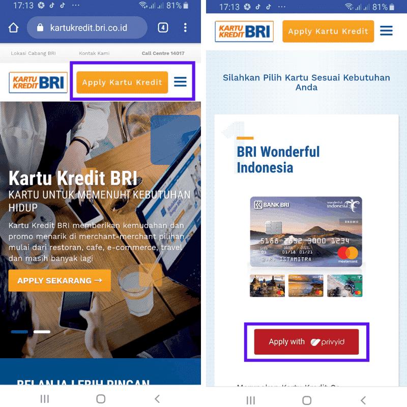 Situs Kartu Kredit BRI