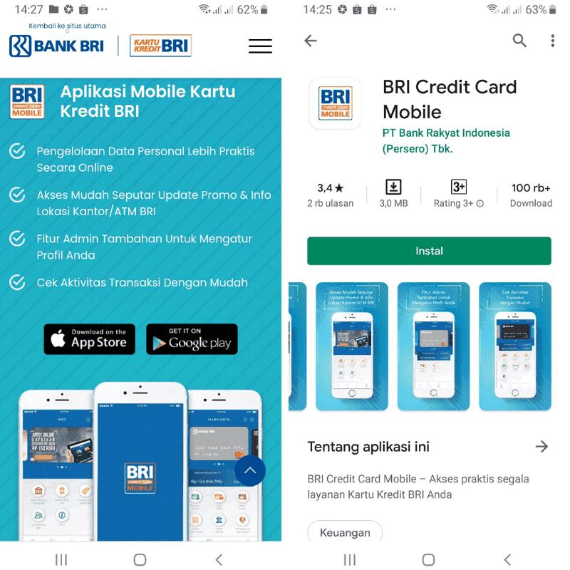 Aplikasi Mobile Kartu Kredit BRI