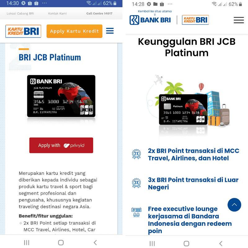 BRI JCB Platinum Kartu Kredit