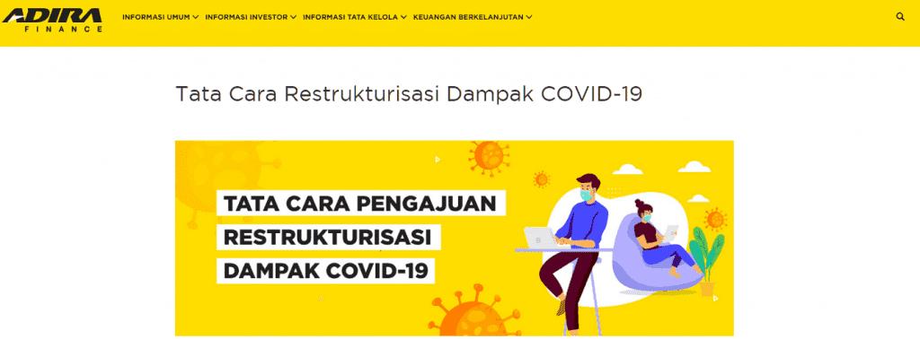 Restrukturisasi Covid-19 Adira Finance