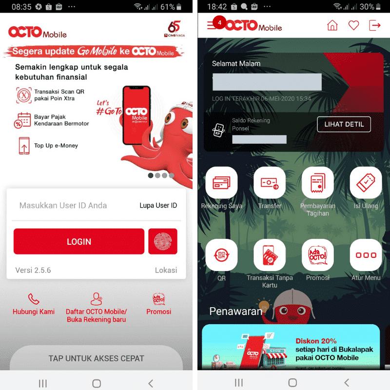 Review Go Mobile Octo Cimb Niaga App M Banking Plus Minus Duwitmu