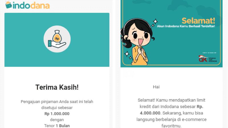 Persetujuan Pencairan Indodana Pinjaman Uang Tunai Online Cepat Cair