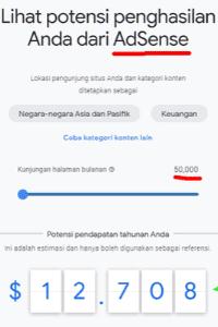 Hasil Penghasilan Google Adsense