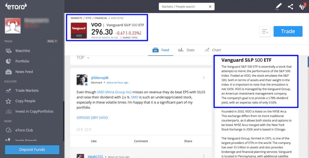 eToro ETF Vanguard
