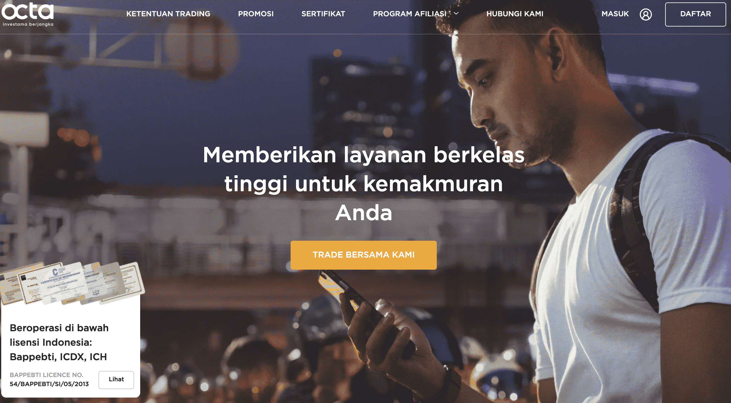Octa Broker Forex Indonesia