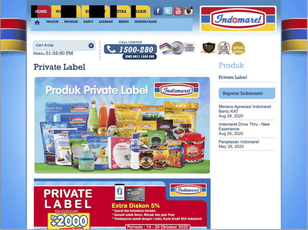 Private Label Indomaret