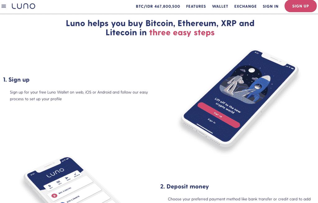 Aplikasi Luno Jual Beli Bitcoin