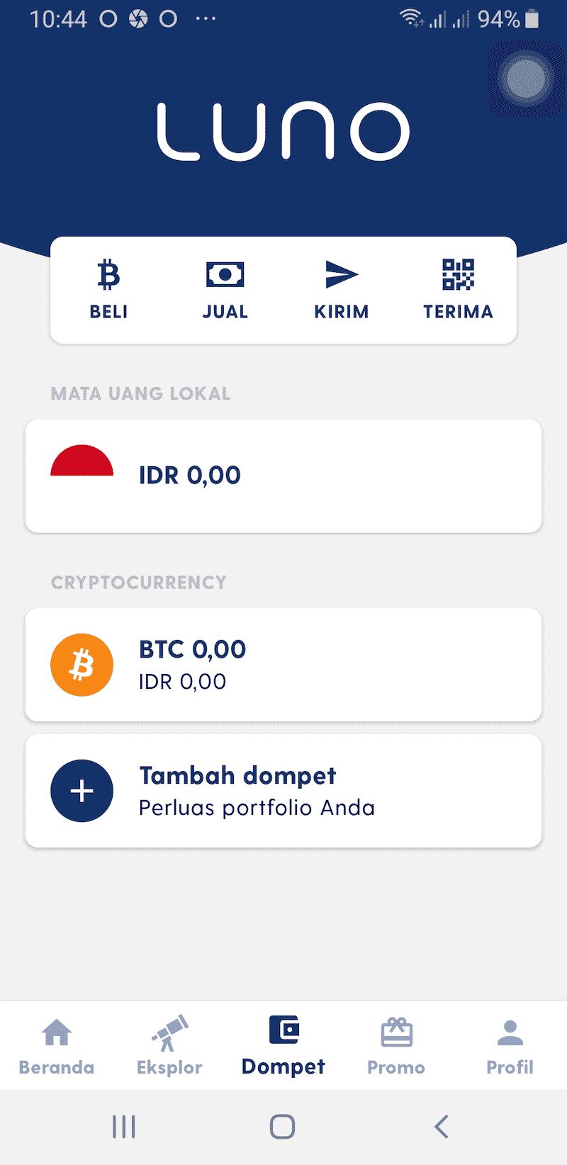 Fitur Aplikasi Luno Jual Beli Bitcoin Kripto