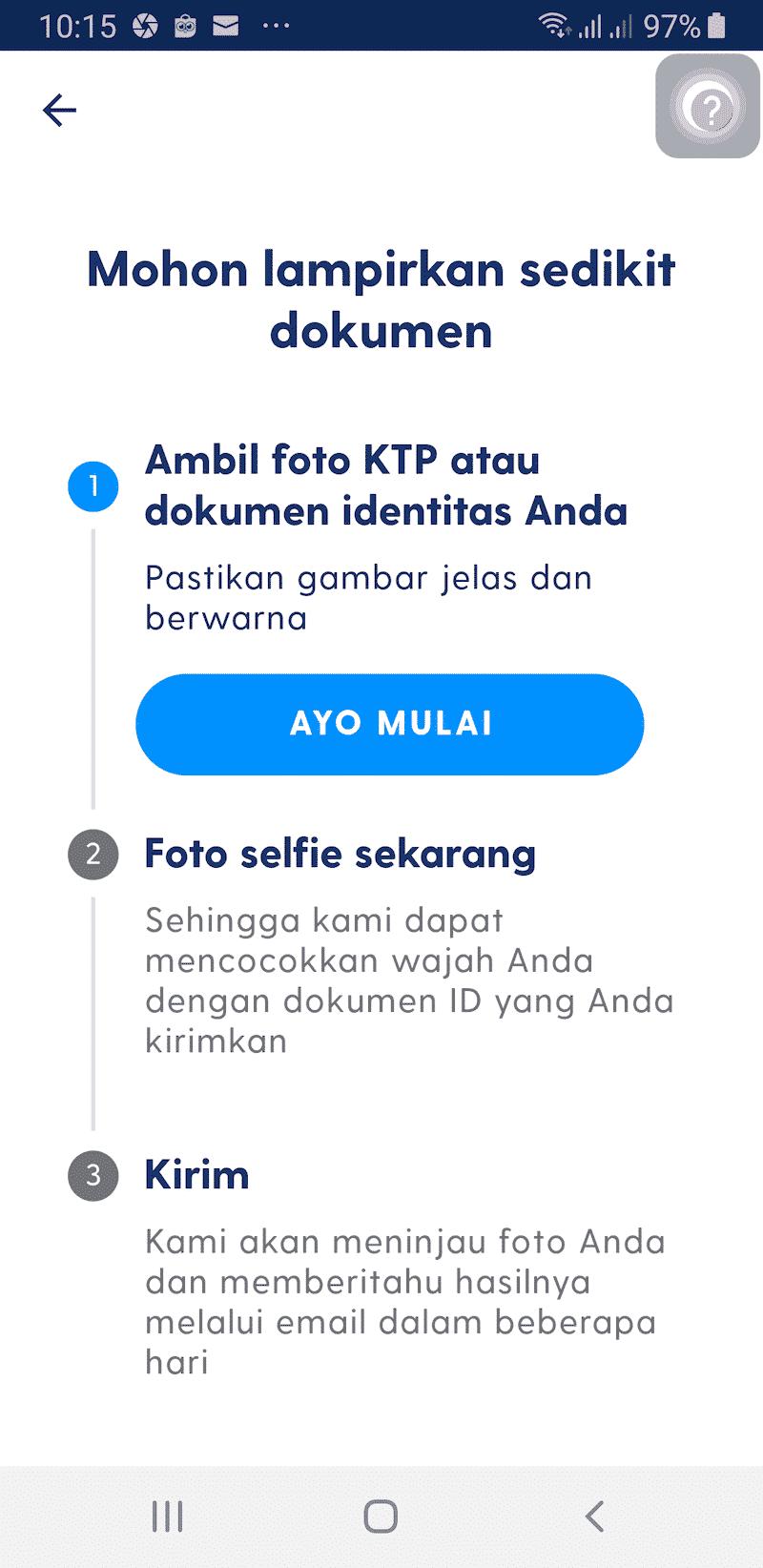 Verifikasi KYC KTP Selfie Aplikasi Luno Jual Beli Bitcoin Kripto