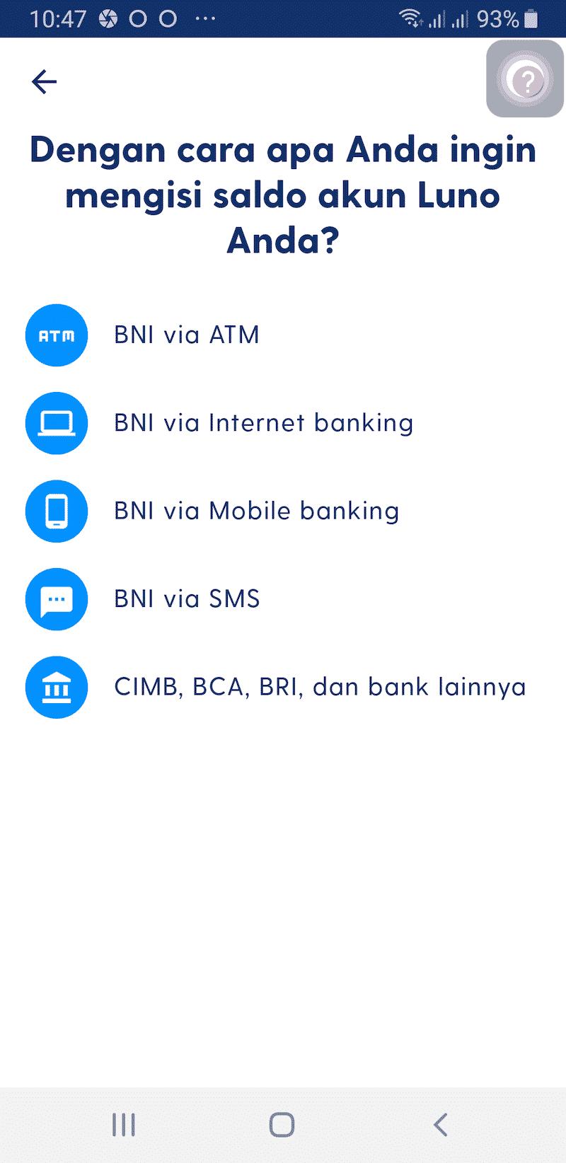 Cara Deposit Aplikasi Luno Jual Beli Bitcoin Kripto