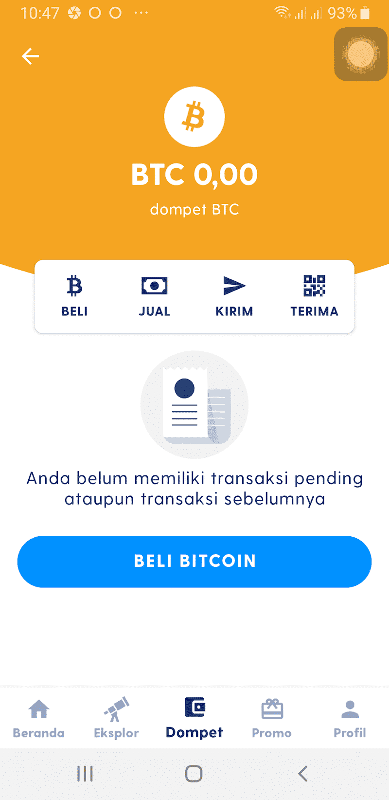 Cara Beli di Aplikasi Luno Jual Beli Bitcoin Kripto