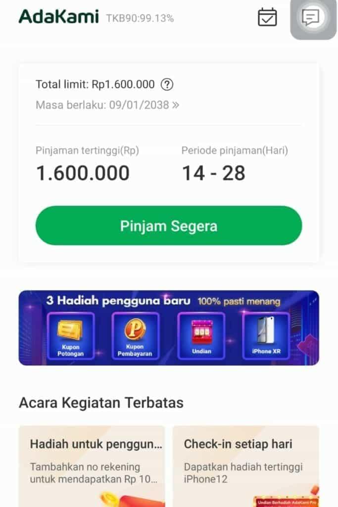 Persetujuan Plafon AdaKami Pinjaman Online Izin OJK