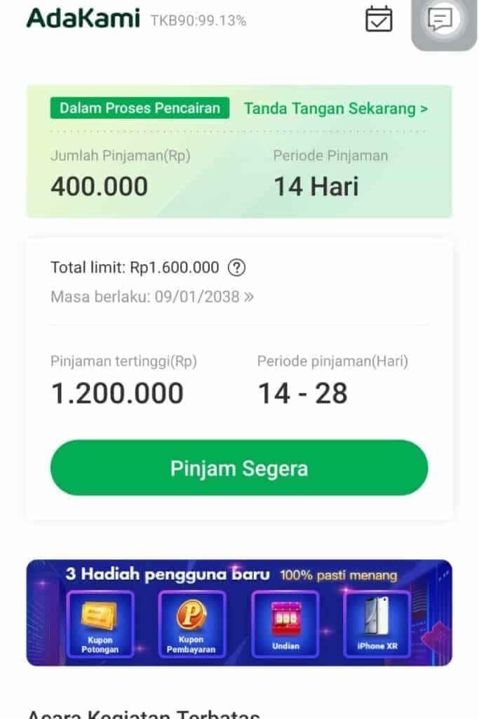 Disetujui AdaKami Pinjaman Online Izin OJK