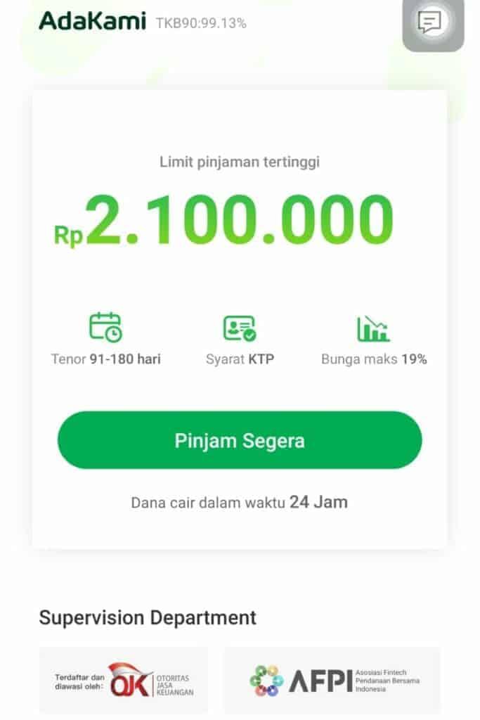 Masuk AdaKami Pinjaman Online Izin OJK