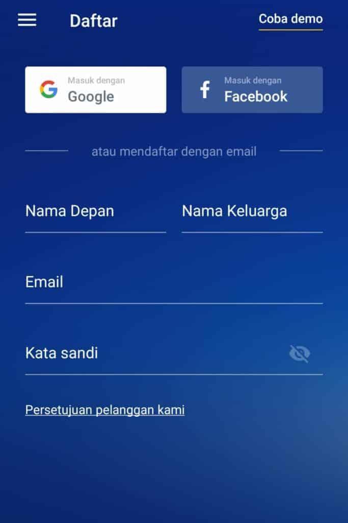 Buka Akun Aplikasi OctaFx Broker Forex