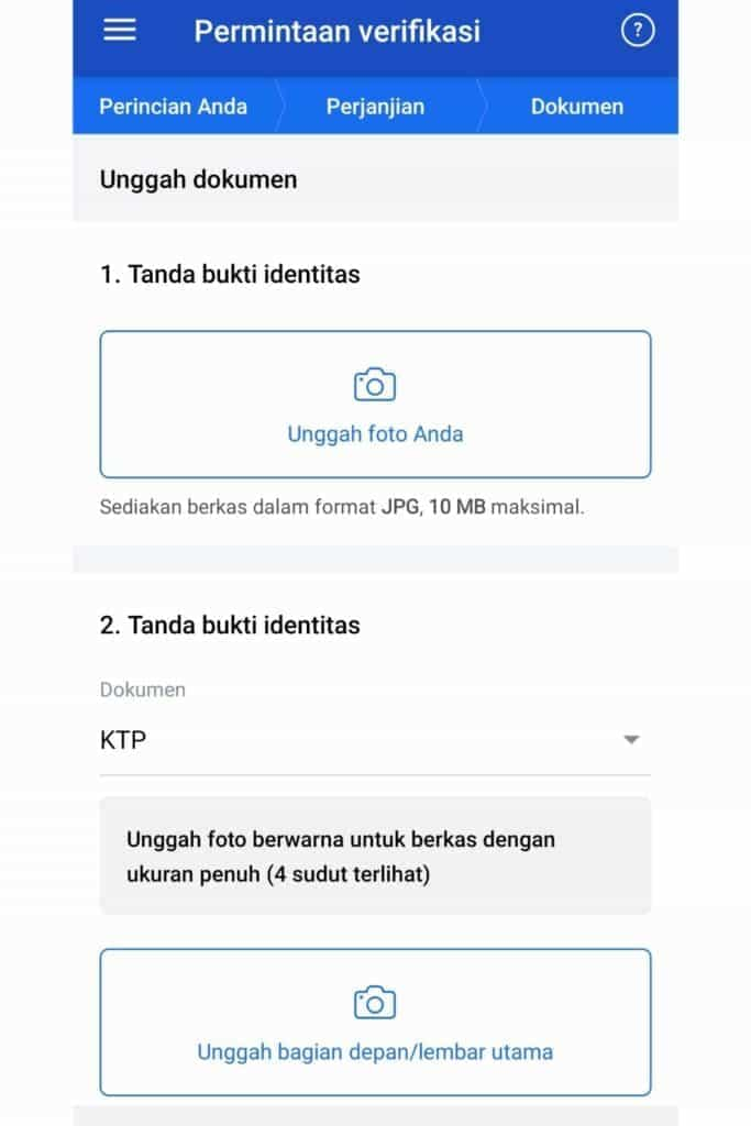 Verifikasi Data Aplikasi OctaFx Broker Forex