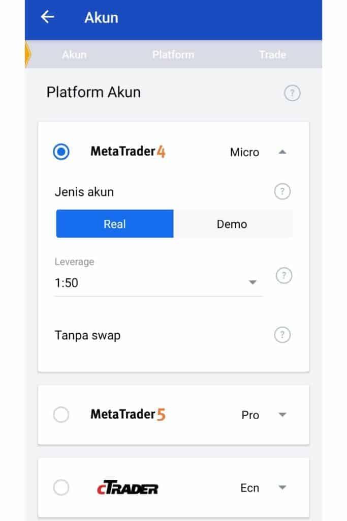 Platform Trading Aplikasi OctaFx Broker Forex