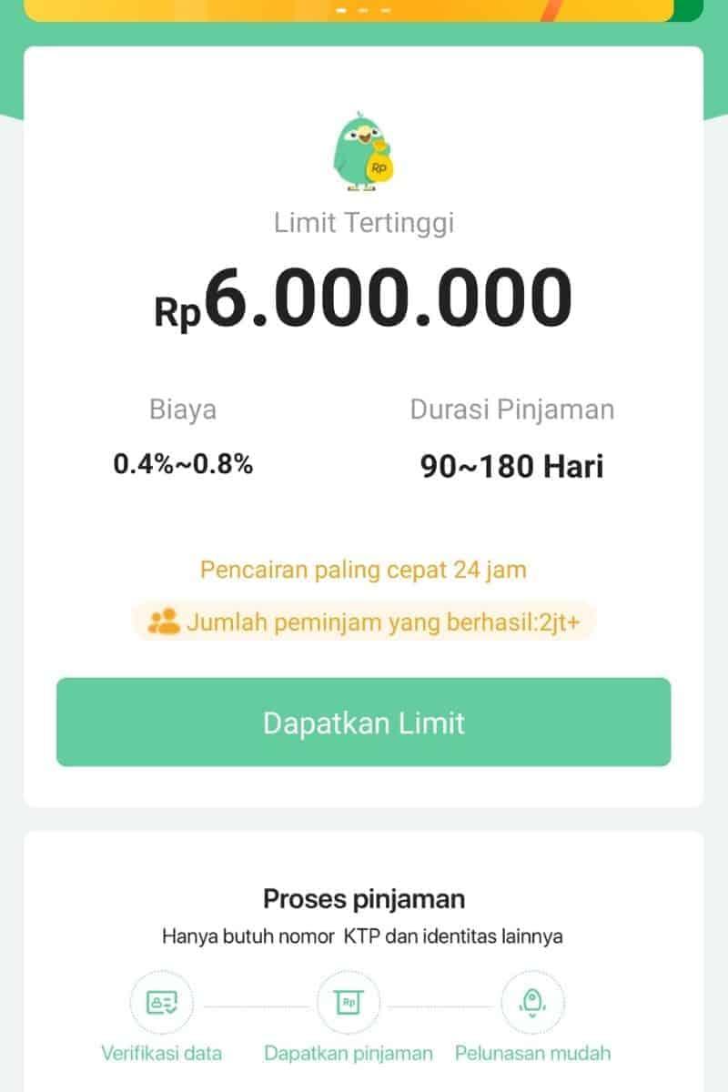 Plafon Tenor di Aplikasi Pinjaman Go 1