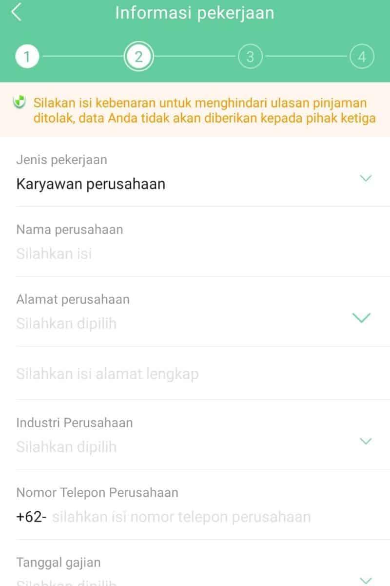 Pekerjaan Penghasilan Aplikasi Pinjaman Go
