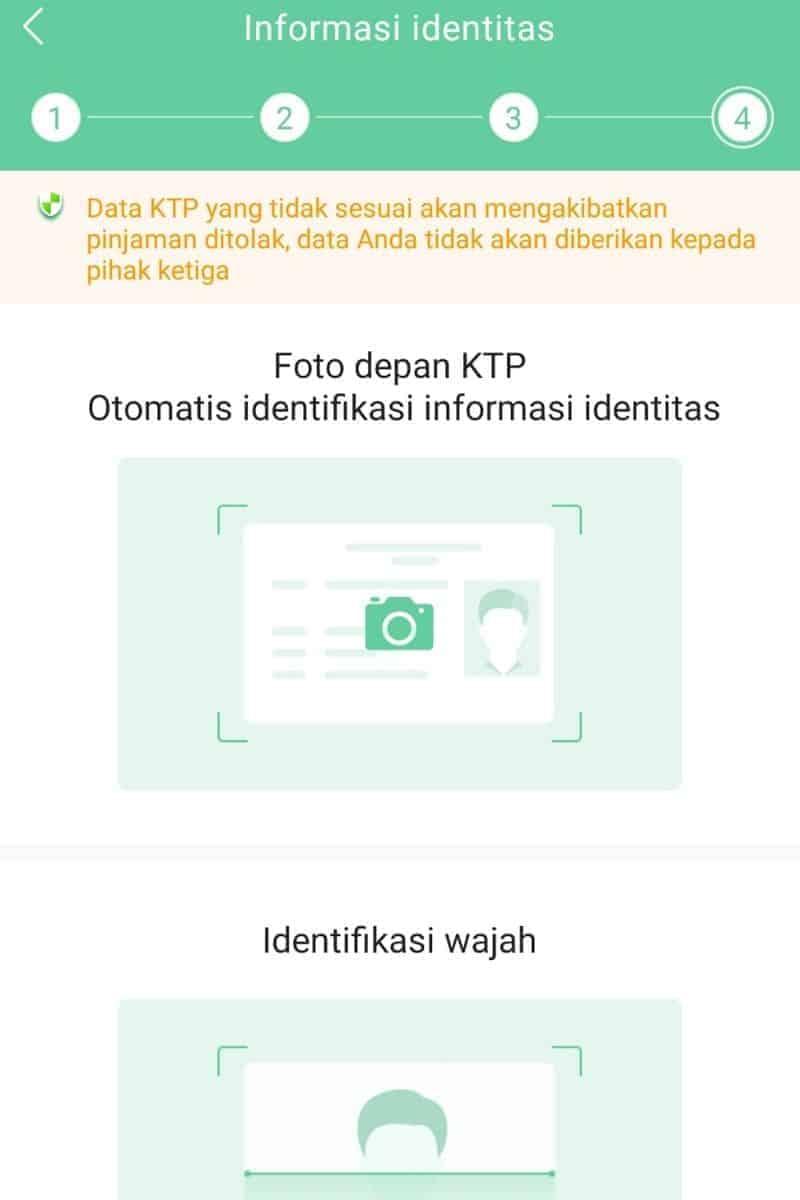 KTP & Foto Selfie Aplikasi Pinjaman Go