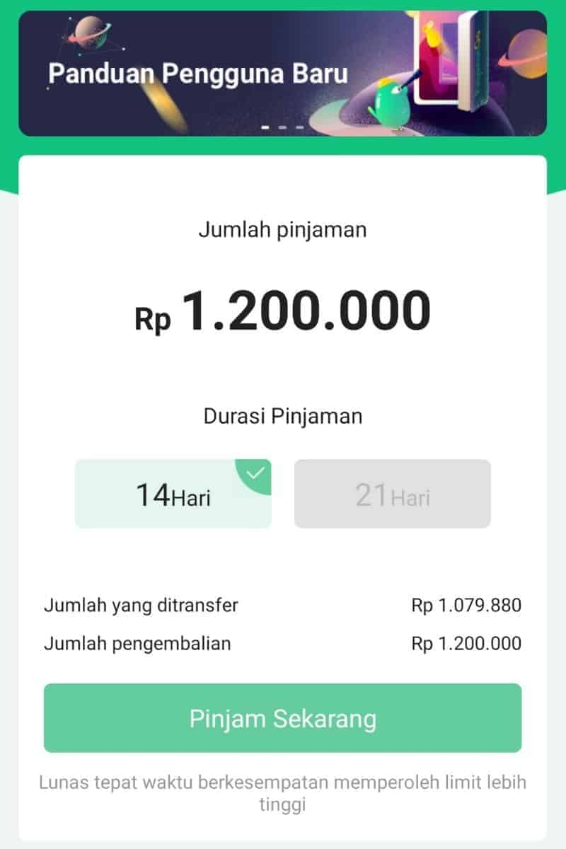 Plafon Kredit Disetujui Aplikasi Pinjaman Go