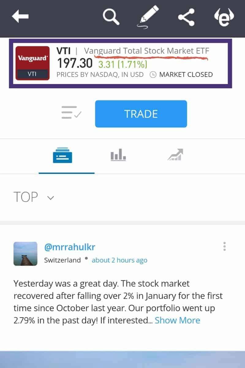 Total Stock Market Aplikasi eToro Internasional ETF