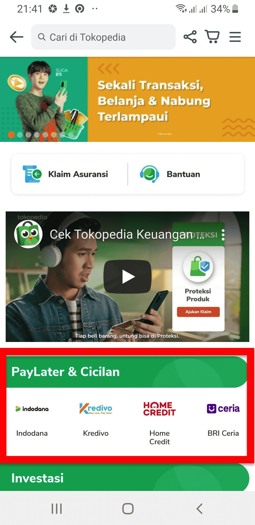 PayLater Cicilan Cara Kredit di Tokopedia