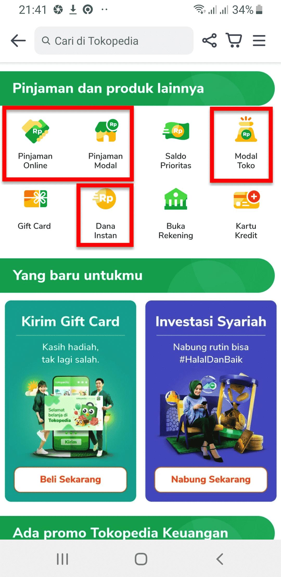Pinjaman Online Cara Kredit di Tokopedia