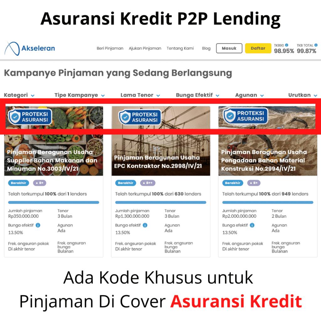 Asuransi Kredit P2P Lending