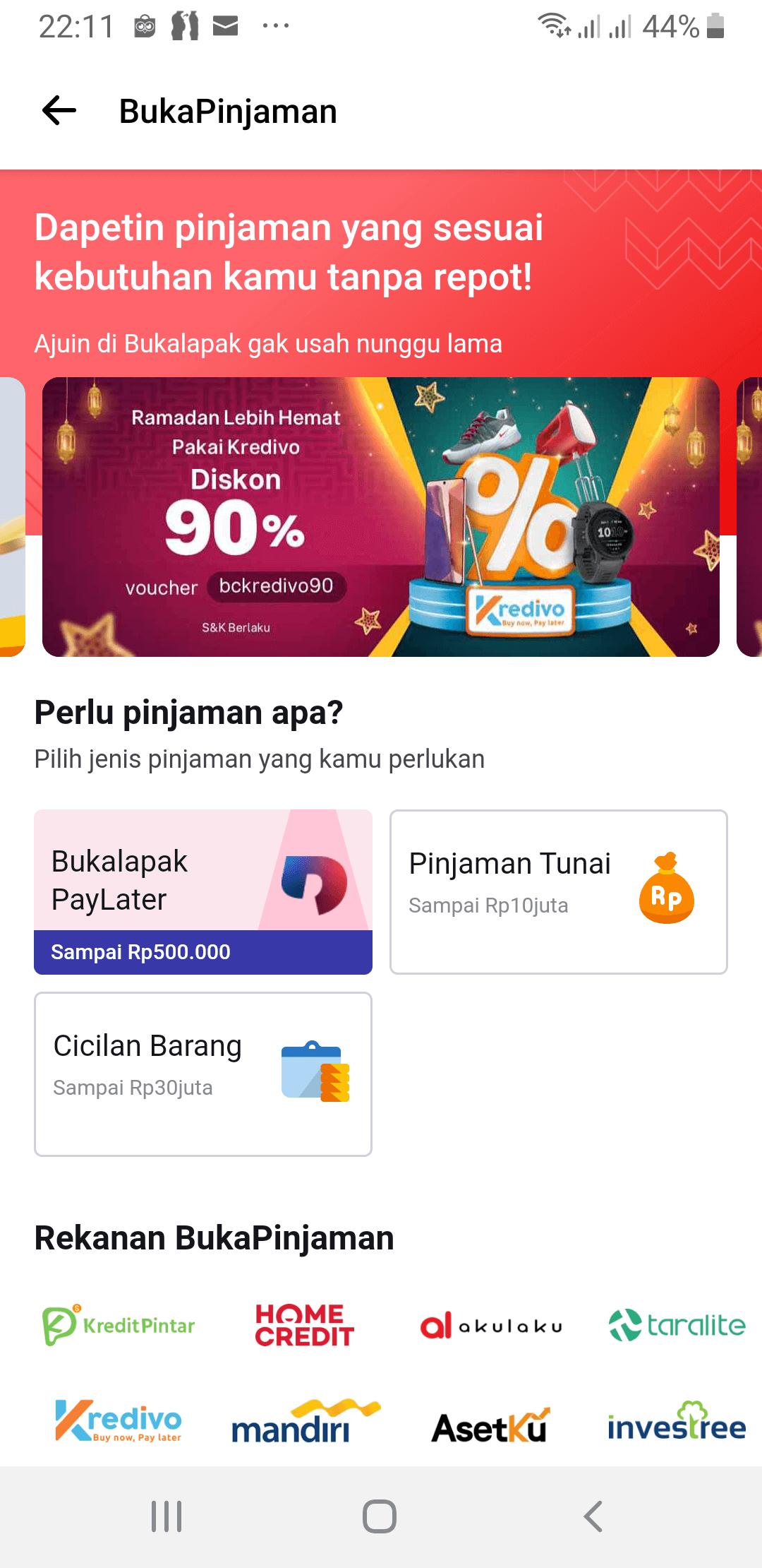 Aplikasi Bukalapak PayLater