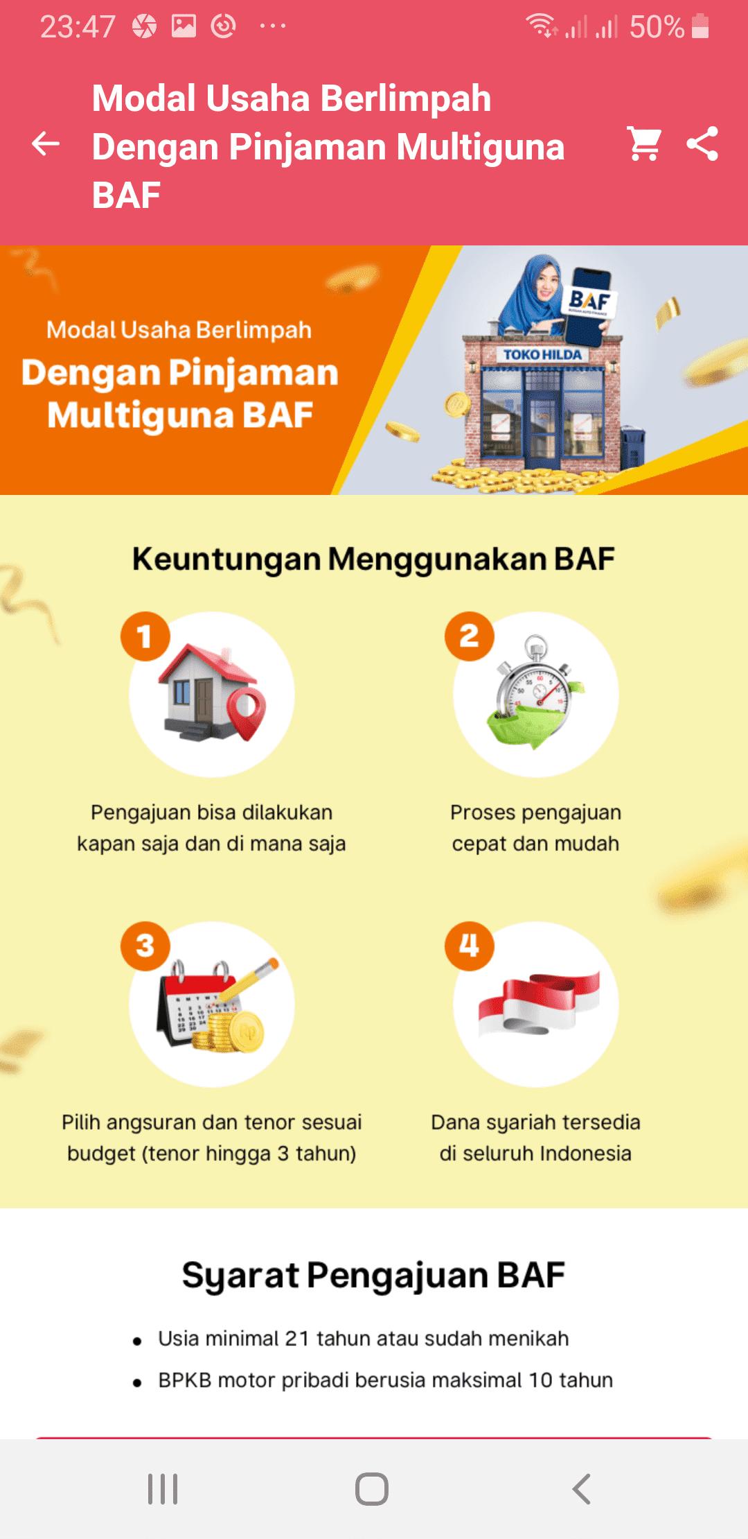 BAF Multiguna Cara Kredit Bukalapak