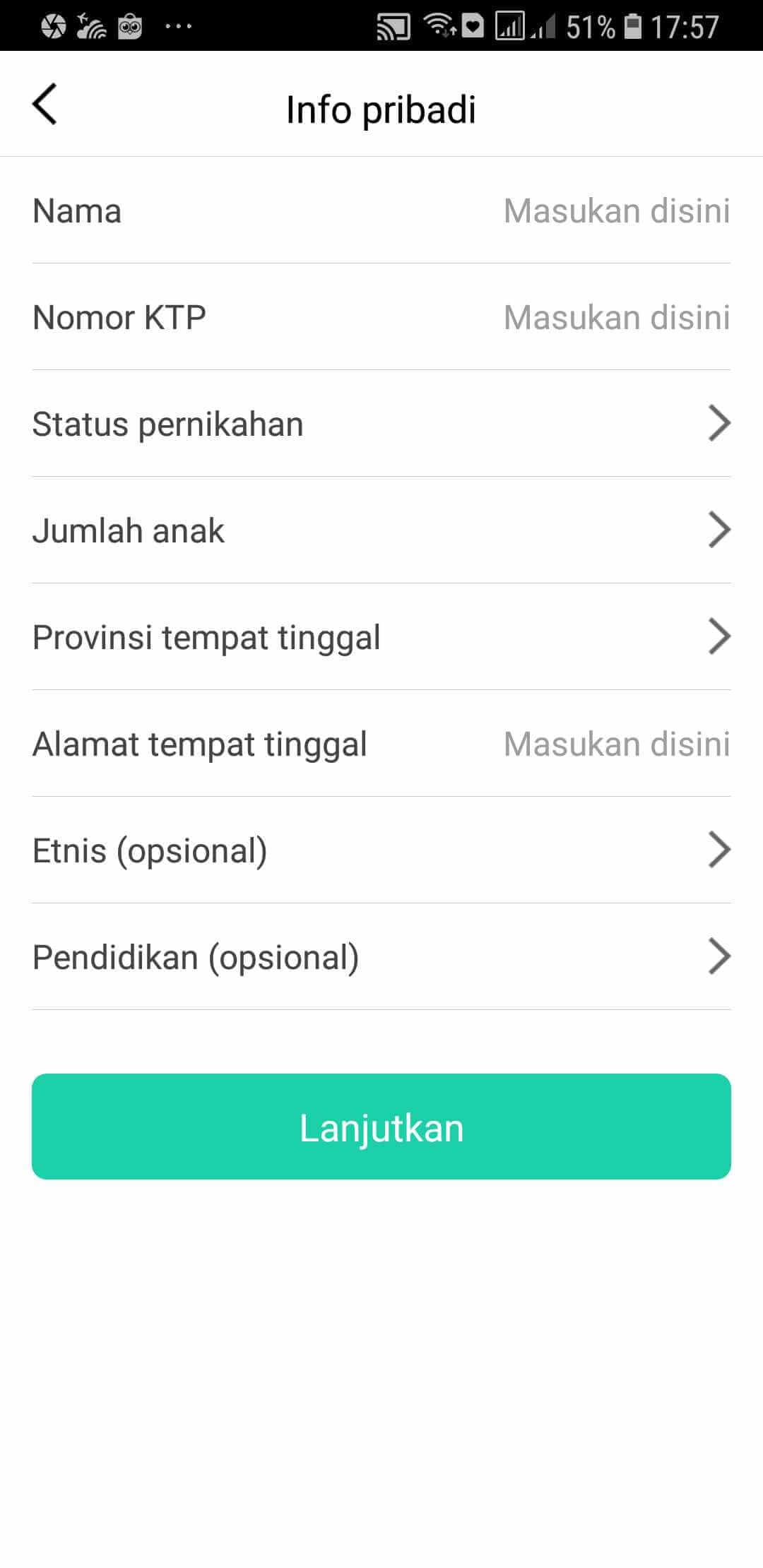 Info Pribadi Pinjam Yuk Pinjaman Online
