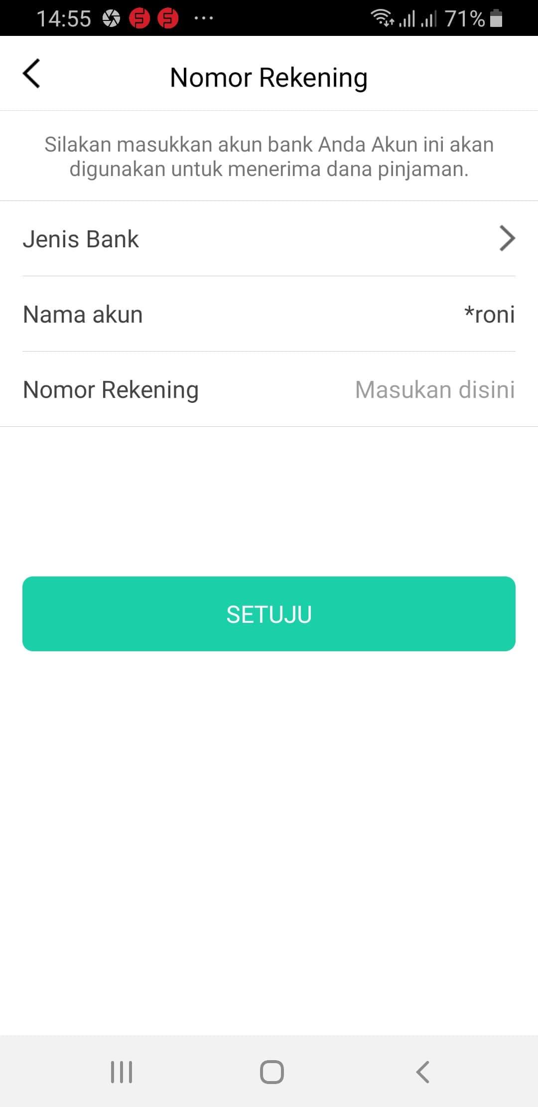 Rekening Bank Pinjam Yuk Pinjaman Online