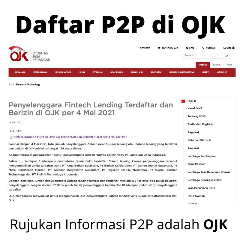 Daftar P2P Izin OJK