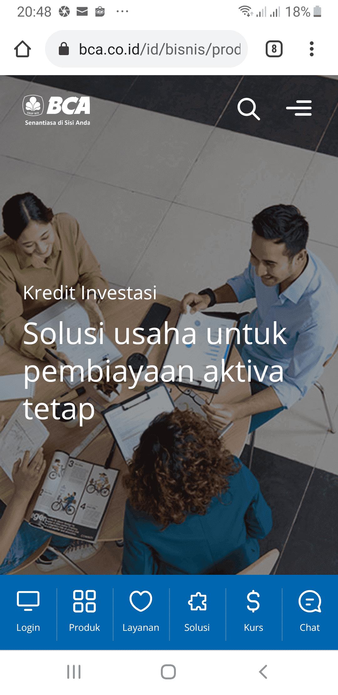 Pinjaman Usaha BCA Kredit Investasii