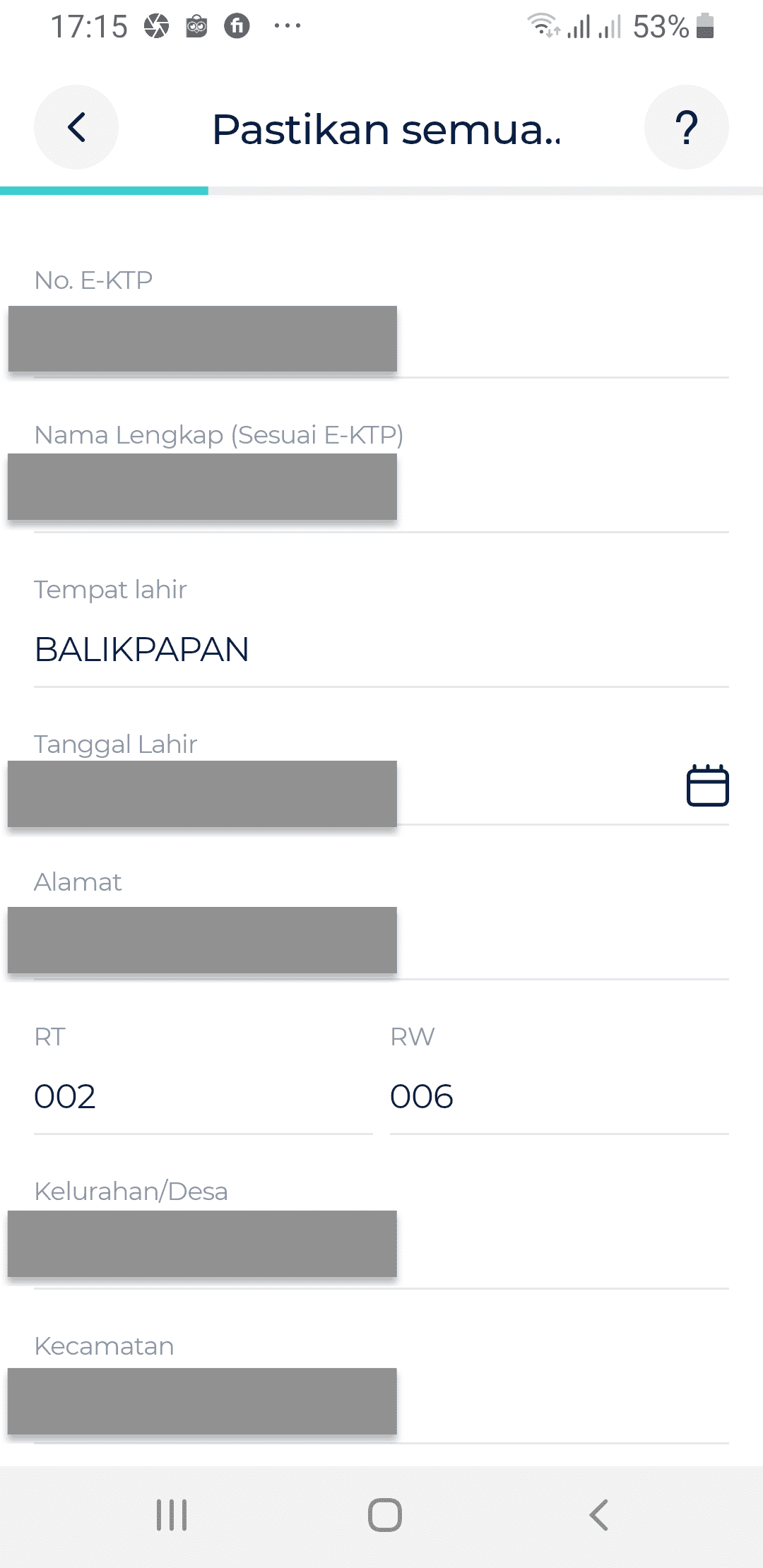 Data Pribadi bLu BCA Digital