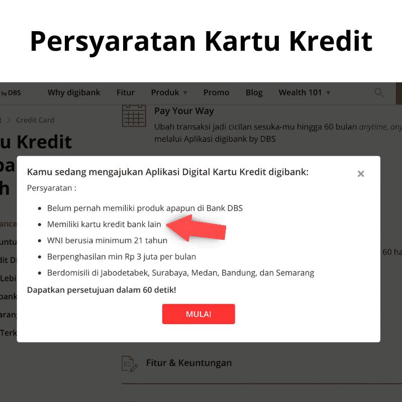 Persyaratan Kartu Kredit